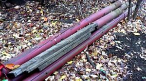 旧どんぐり山の木材